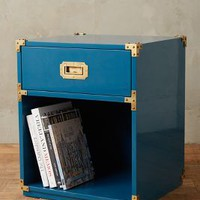 Lacquered Wellington Nightstand by Anthropologie Dark Turquoise Nightstand House & Home