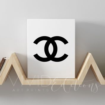 Chanel Monogram 2 B+W Gallery Wrapped Canvas
