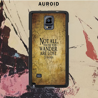 Not All Those Who Wander Are Lost Tolkien Samsung Galaxy Note 3 Case Auroid