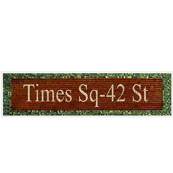 Times Square 42nd Street Subway Sign Phil Maier Art Print