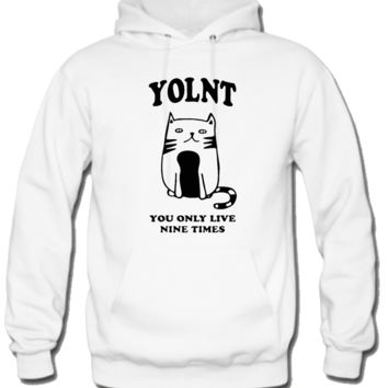 You only live nine times Hoodie