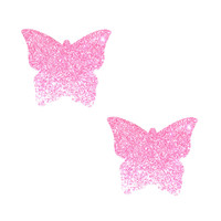 Mini Sparkle Pony Pink Glitter Butterfly Kisses Nipple Cover 6PK