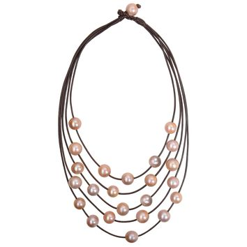 Constellation Necklace, Pink Freshwater