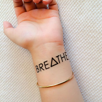 2 Breathe Temporary Tattoos - SmashTat
