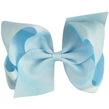 Grosgrain Boutique Hairbow, Light Blue