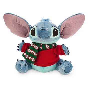 "Licensed cool NEW Disney Store Hawaii Lilo & Stitch Alien 12"" Holiday Christmas Plush Toy Doll"