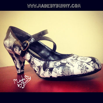 Custom Made Cowboy Bebop / Anime / Manga / Comic Book - Decorated Shoes  Heels / Pumps / Wedges