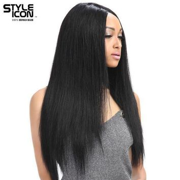 Styleicon Wig Lace Front Human Hair Wigs For Black Women Brazilian Remy Straight Lace Wig 10 24 Inch Free Shipping