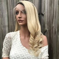 Rooted Natural Blonde Balayage Full Lace Wig