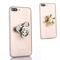 Hand Spinner with Finger Ring Stand Holder Combo Phone Handle