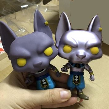Dragon Ball Beerus Doll Model VS Beerus Exclusive Plating Version Dragon Ball Z Vinyl Action Figure Collectible toys