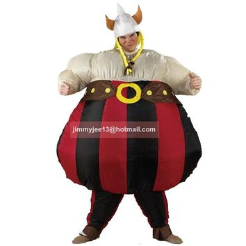 inflatable Obelix costume Asterix Obelix cartoon Obelix game character Wickinger fancy dress air blown outfit promotion