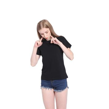 Women's Fashion Ladies Slim Short Sleeve Soft Summer T-shirts [10710153031]