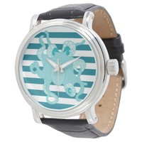 Octopus Blue Bold Stripes Watch