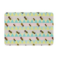 "Louise Machado ""Little Bee"" Pastel Chevron Memory Foam Bath Mat"