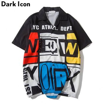 Dark Icon N.Y.A.D. Summer Hawaii Style Men's Street Shirt