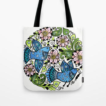 Blossom Spring Tote Bag by MIKART