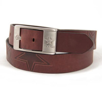 Dallas Cowboys NFL Men's Embossed Leather Belt (Size 32)