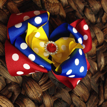 Circus Theme bow.  Prefect for any carinval or circus theme 4""
