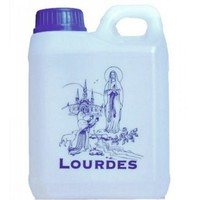 Lourdes Holy Water in 1 Liter Lourdes Container (0.264 Gallons)