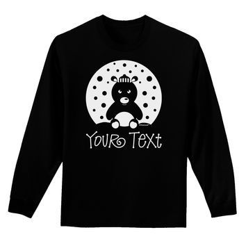 Personalized Matching Polar Bear Family Design - Your Text Adult Long Sleeve Dark T-Shirt
