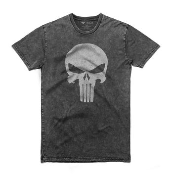 Fifty5 Clothing Punisher Skull Men's Stone Wash T Shirt