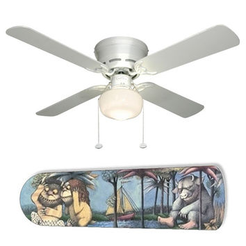 "Sendaks Where The Wild Things Are 42"" Ceiling Fan and Lamp"