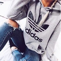 Trendsetter ADIDAS Women Hooded Top Sweater Pullover Sweatshirt