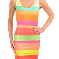 MULTICOLOR STRIPE DRESS @ KiwiLook fashion