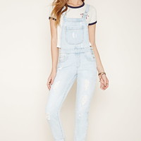 Distressed Denim Overalls | Forever 21 - 2000153630