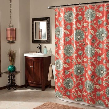 Ankara Shower Curtain in Cinnabar