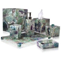 Taj Fluorite Bath Accessories by Mike + Ally