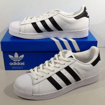 ADIDAS Women's Originals Superstar Size 9 White Leather Athletic Shoes XJ-598