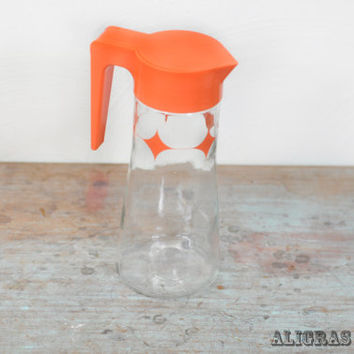 Retro Atomic Anchor Hocking Tang Orange Juice Pitcher Stars Vintage Decanter