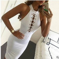 Women's Fashion Sexy Sleeveless One Piece Dress [5024203204]