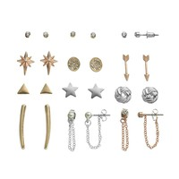 SO Love Knot, Star, Arrow, Chain & Stud & Drop Earring Set (Rose Gold/Silver/Gold)