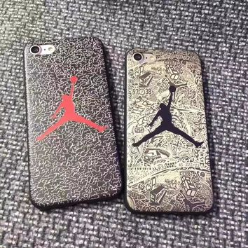 SFor iPhone 6 Case iPhone 7 8 Case Fashion Jordan NBA Matte Soft TPU Silicone Back Cover Phone Cases For iPhone 6S 6 7 8 Plus