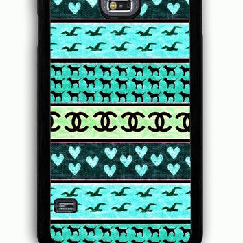Samsung Galaxy S5 Case - Rubber (TPU) Cover with red hollister seagulls chanel sign hearts stripes Rubber Case Design