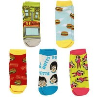 Bob's Burgers Storefront Tina Lousie Licensed Unisex Ankle Socks - 5 Pack