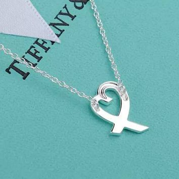 Tiffany 925 sterling silver heart necklace high quality