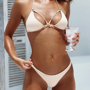 Beaded Outlined Bikini