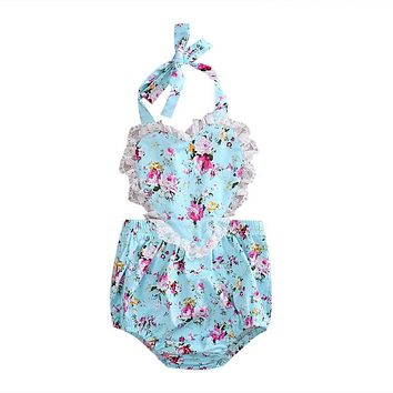 Newborn Baby Girls Floral Romper Halloween Gift Jumpsuit Clothes