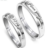 """Forever I love you"" couple ring"