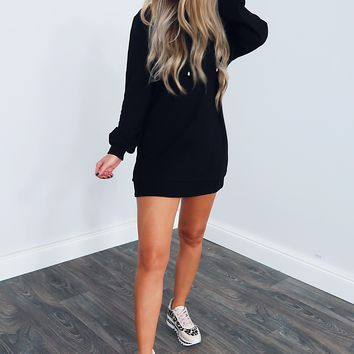 Just Want To Be With You Tunic: Black
