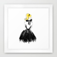 Little Black Bow Framed Art Print by Sara Eshak | Society6