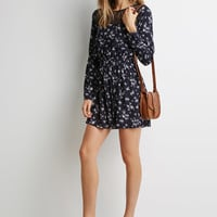 Floral Lace-Paneled Dress