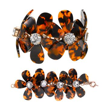 Flowers in Bloom - Our Tortoise Shell Color Bracelet to match the Necklace