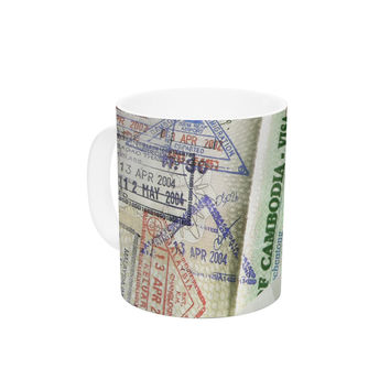 "Heidi Jennings ""Travel The World"" Passport Ceramic Coffee Mug"