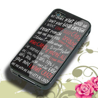 hunter hayes quote Hard plastic,Rubber iphone 4/4s,5/5s,5c,Samsung S3 i9300,S4 i9500