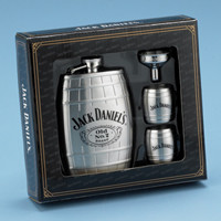 Jack Daniel's Flask Gift Set - Barrel Flask - Barrel Trio plus funnel